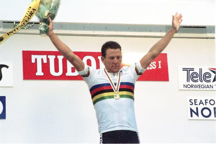 Lance Armstrong, champion du monde en 1993