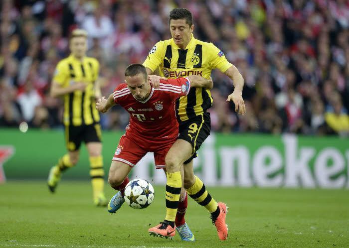 Robert Lewandowski et Franck Ribéry