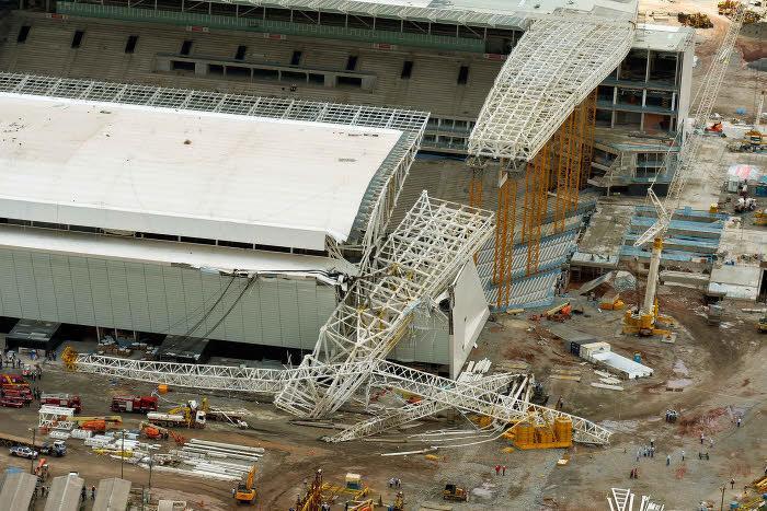 Le stade des Corinthians, à Sao Paulo