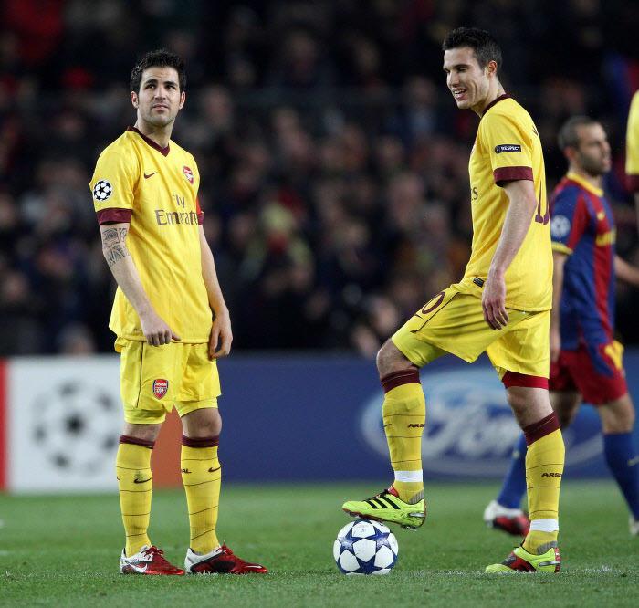 Cesc Fabregas et Robin Van Persie, Arsenal