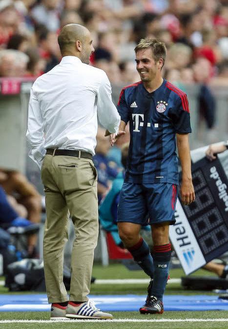 Pep Guardiola et Philipp Lahm, Bayern Munich