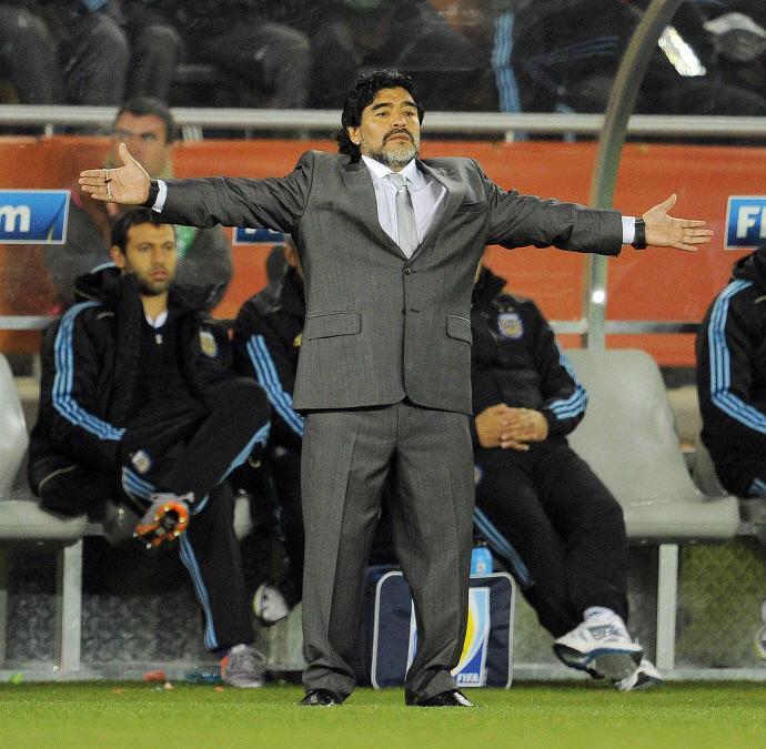Diego Maradona, en 2010