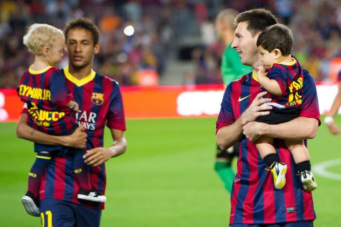 Neymar et Lionel Messi, FC Barcelone