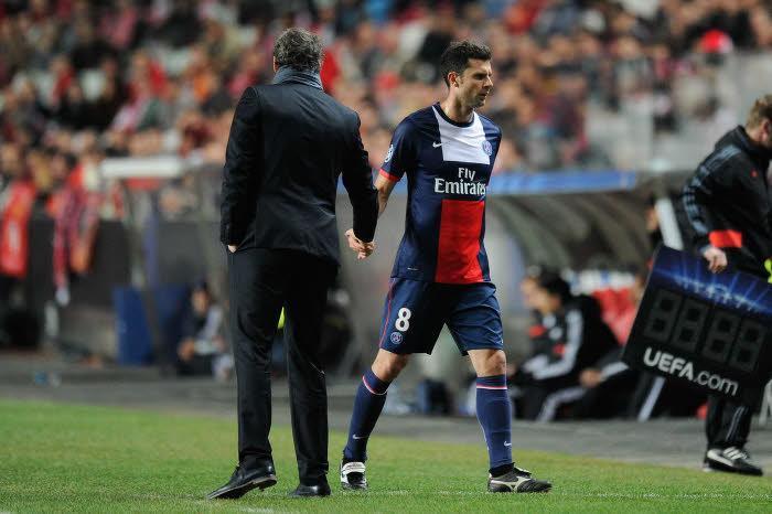 Thiago Motta, Laurent Blanc, PSG