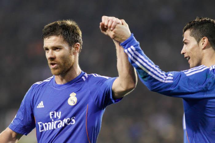 Xabi Alonso et Cristiano Ronaldo, Real Madrid