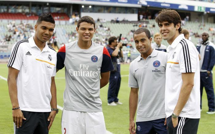 Lucas Moura, face au Real Madrid l'été dernier