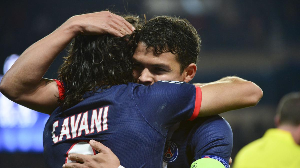 Edinson Cavani & Thiago Silva, PSG