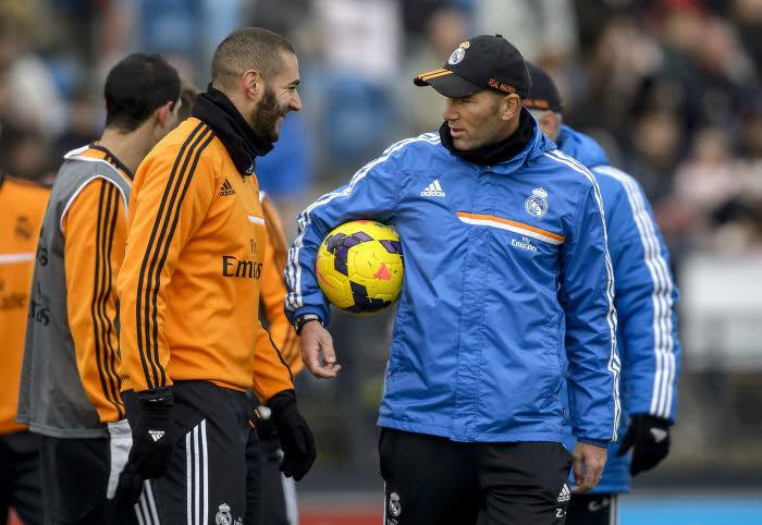 Karim Benzema et Zinédine Zidane, Real Madrid