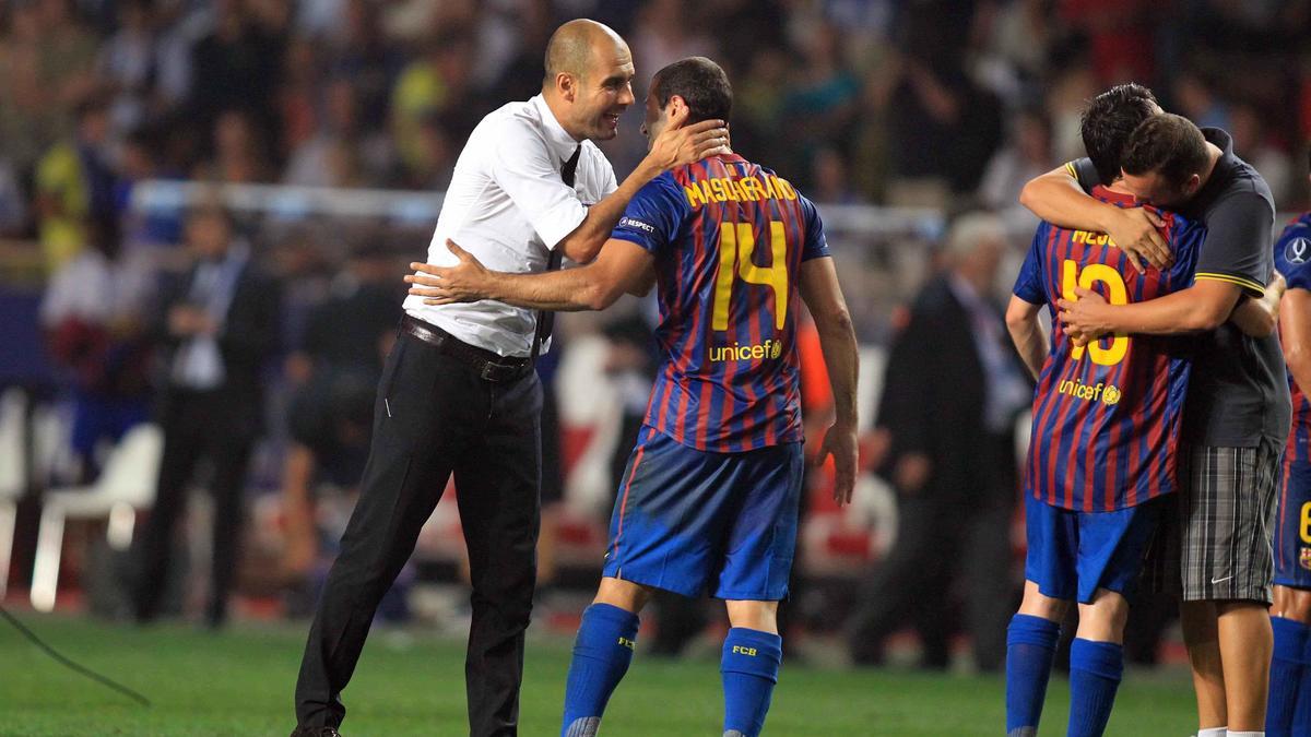 Pep Guardiola & Javier Mascherano