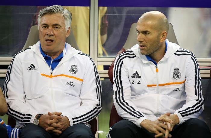 Carlo Ancelotti et Zinédine Zidane, Real Madrid