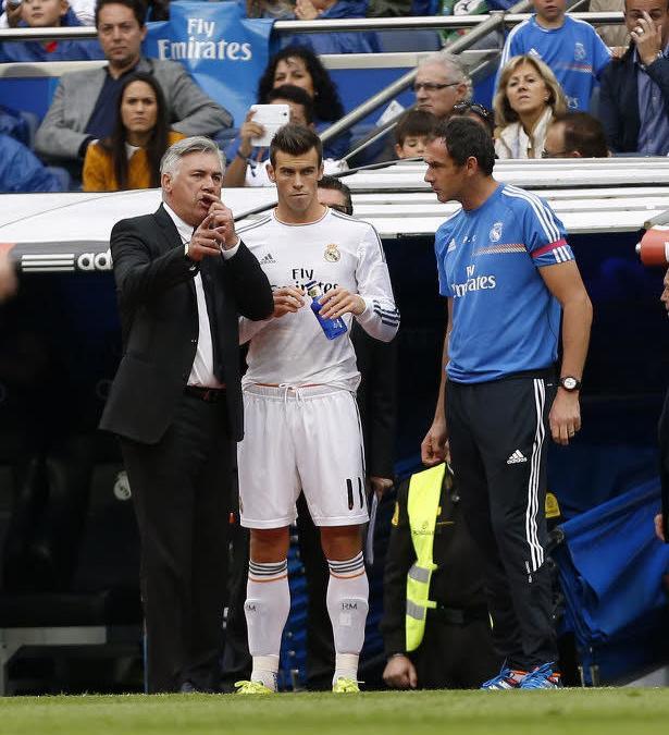 Carlo Ancelotti et Gareth Bale, Real Madrid