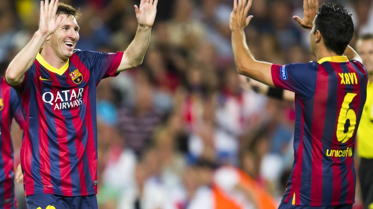 Xavi Hernandez - Lionel Messi