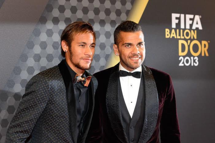 Neymar et Daniel Alves, FC Barcelone