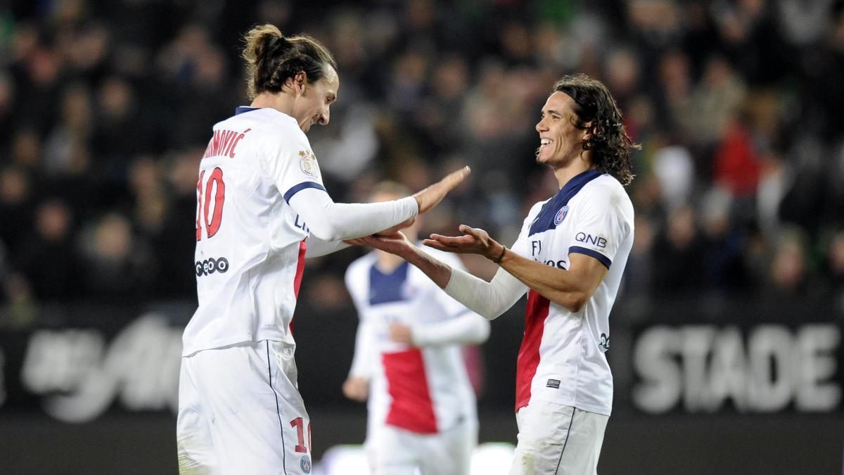 Zlatan Ibrahimovic & Edinson Cavani, PSG