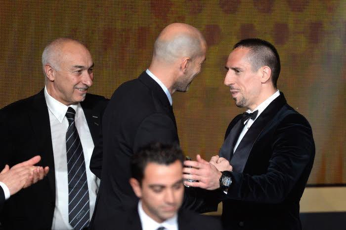 Zinédine Zidane et Franck Ribéry