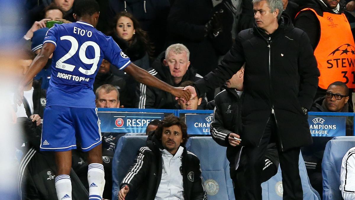 Sameul Eto'o & José Mourinho, Chelsea