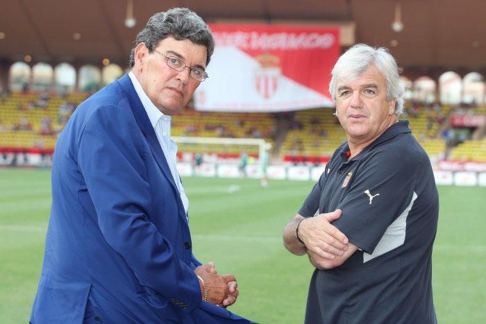 Michel Pastor (à gauche) et Jean Petit, AS Monaco