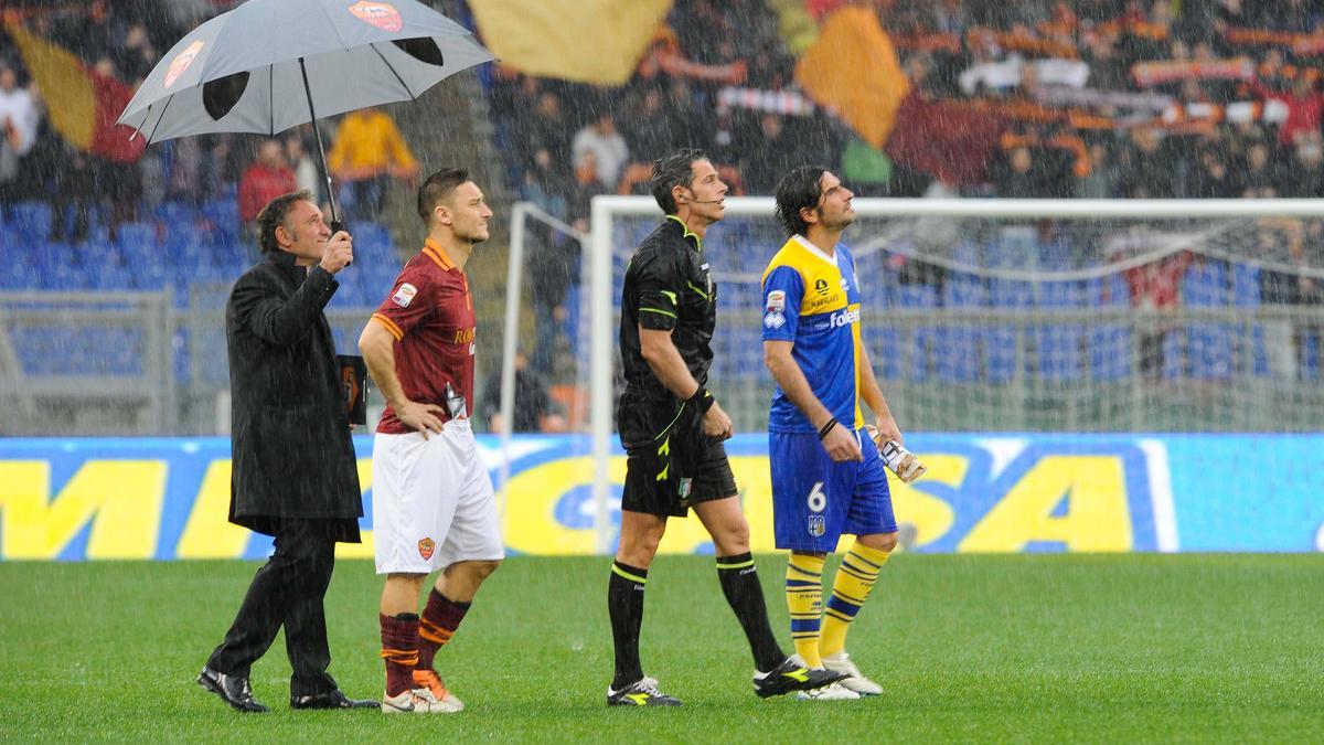Rome-Parme arrêté par la pluie