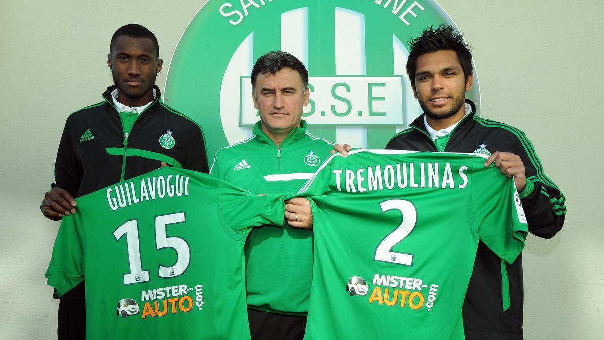 Josuha Guilavogui, Christophe Galtier & Benoît Trémoulinas, ASSE