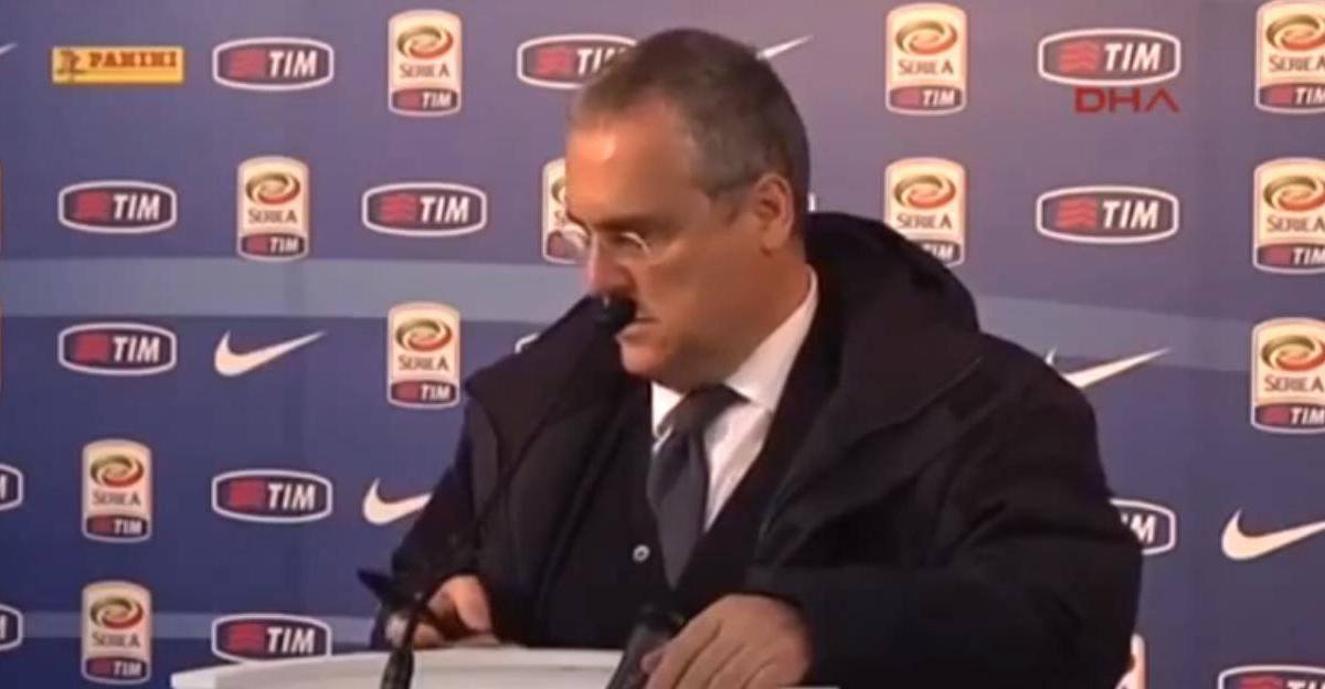 Italie : Le président de la Lazio menacé de mort en pleine conférence de presse ! (vidéo)