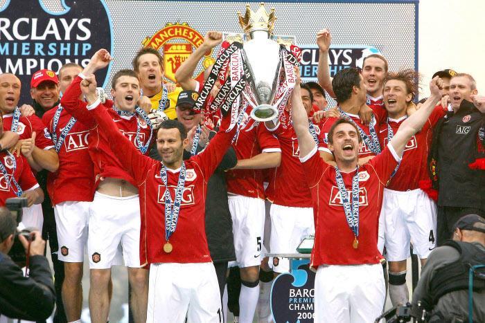 Ryan Giggs et Gary Neville, Manchester United