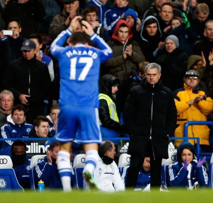 Eden Hazard et José Mourinho, Chelsea