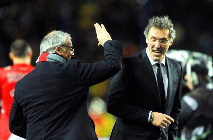 Claudio Ranieri et Laurent Blanc
