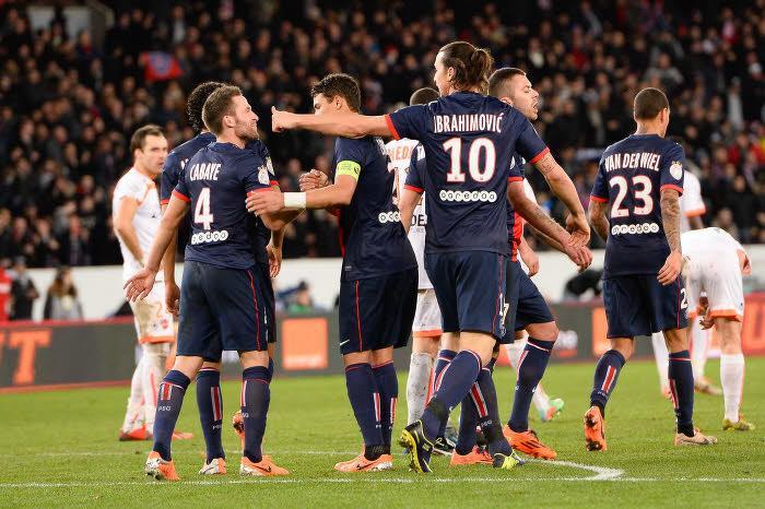 Yohan Cabaye et Zlatan Ibrahimovic, PSG