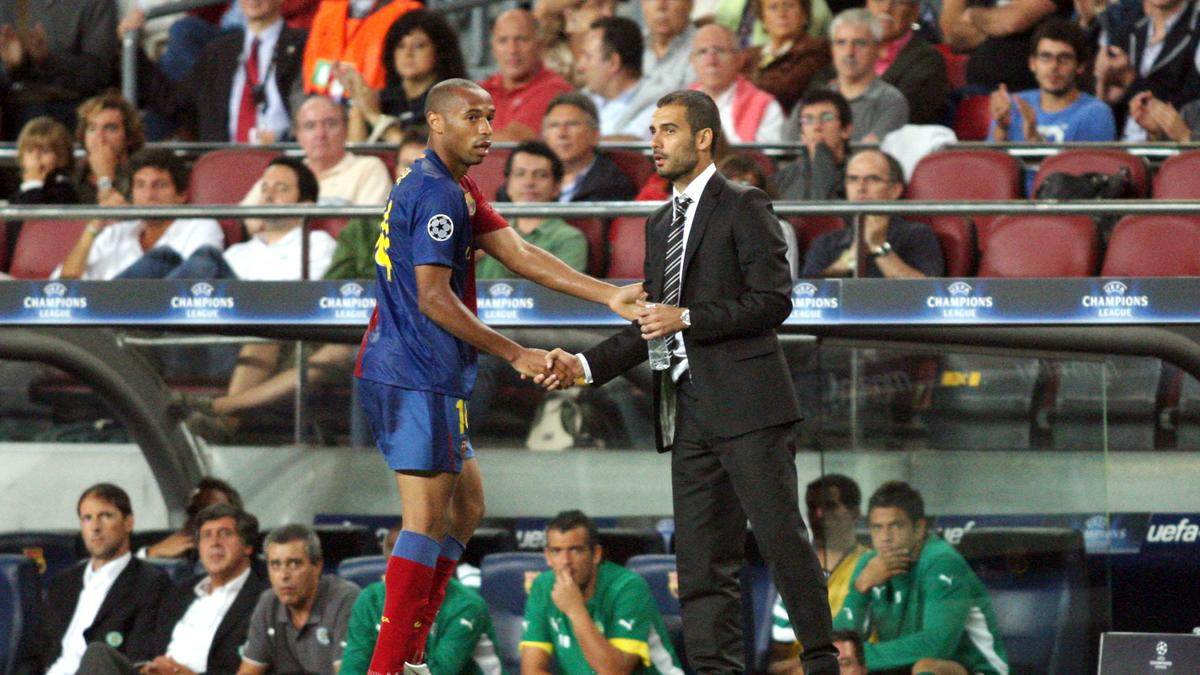 Thierry Henry & Pep Guardiola, Barcelone