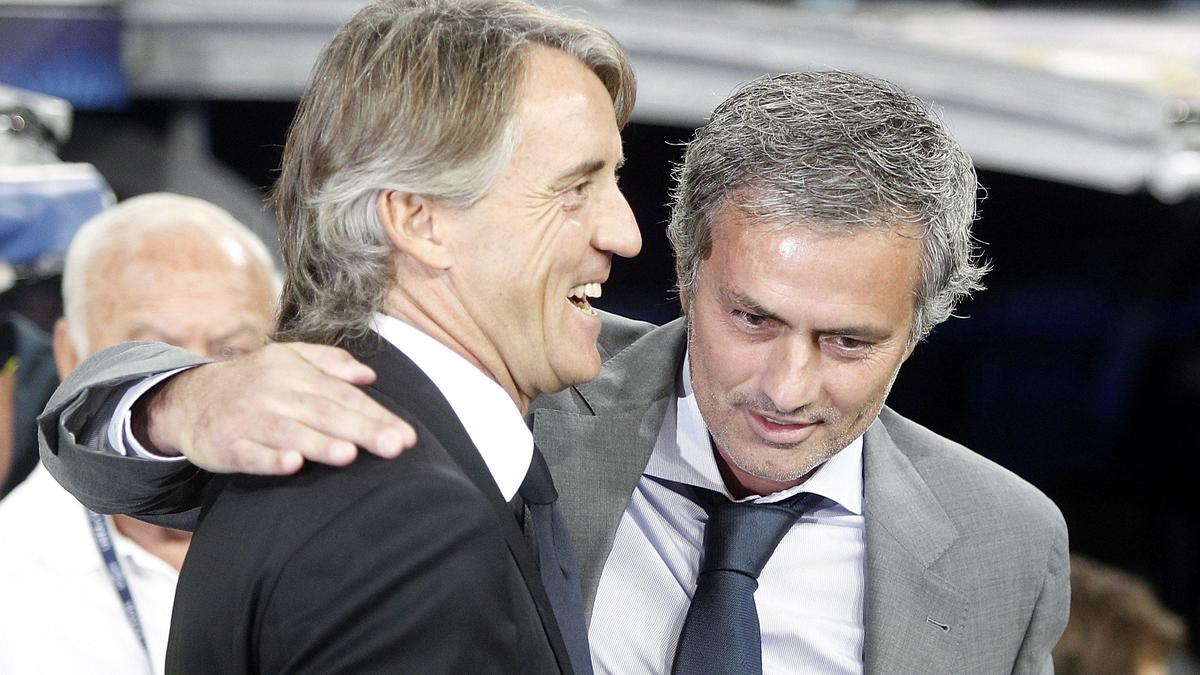 Roberto Mancini & José Mourinho