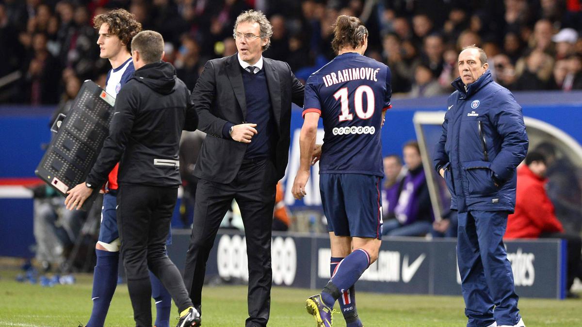 Laurent Blanc et Zlatan Ibrahimovic, PSG