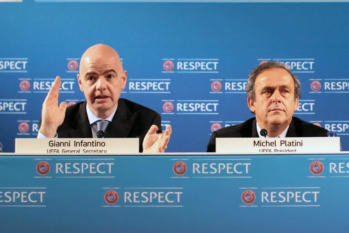 Gianni Infantino et Michel Platini, UEFA