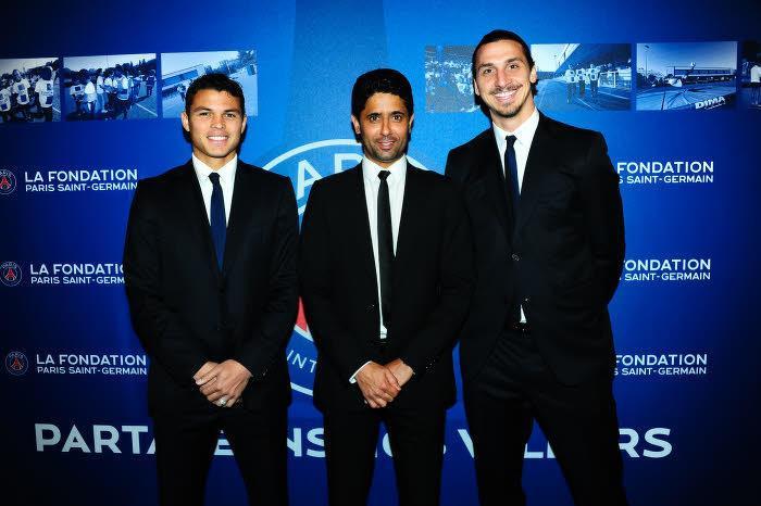 Thiago Silva, Nasser Al-Khelaifi & Zlatan Ibrahimovic