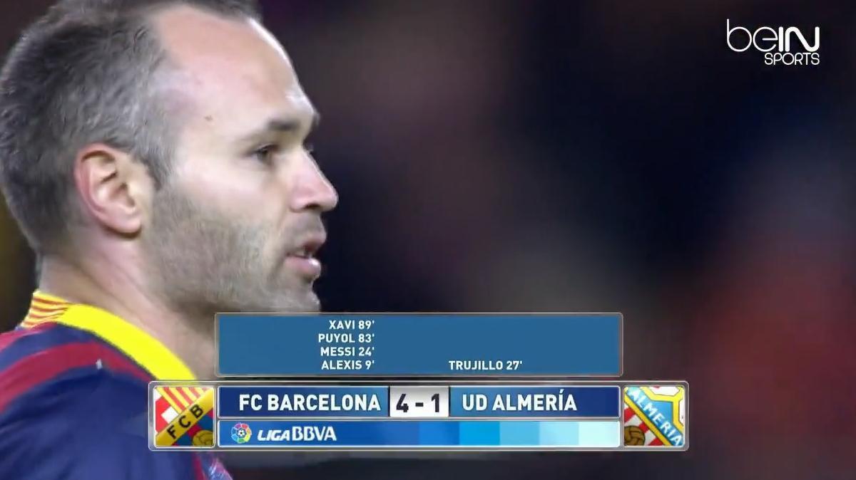Liga : Résumé de FC Barcelone 4-1 Almeria (vidéo)