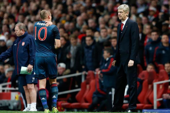 Arsène Wenger et Arjen Robben