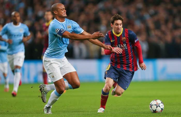Lionel Messi, face à Manchester City