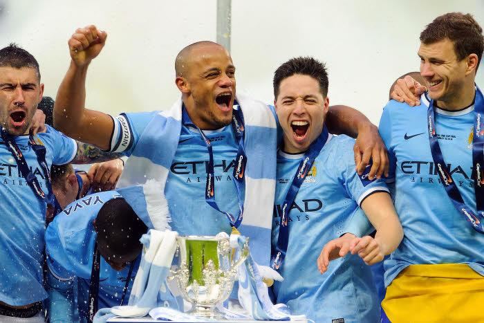 Vincent Kompany, Samir Nasri, Manchester City