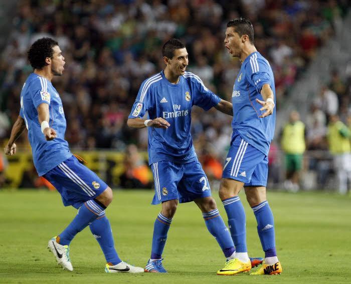 Pepe, Angel Di Maria, Cristiano Ronaldo, Real Madrid