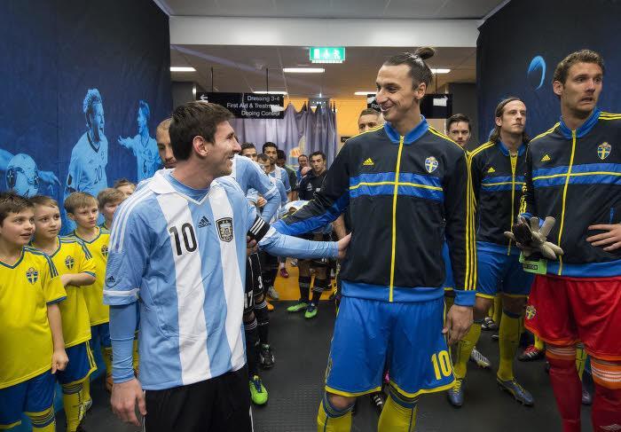 Lionel Messi et Zlatan Ibrahimovic