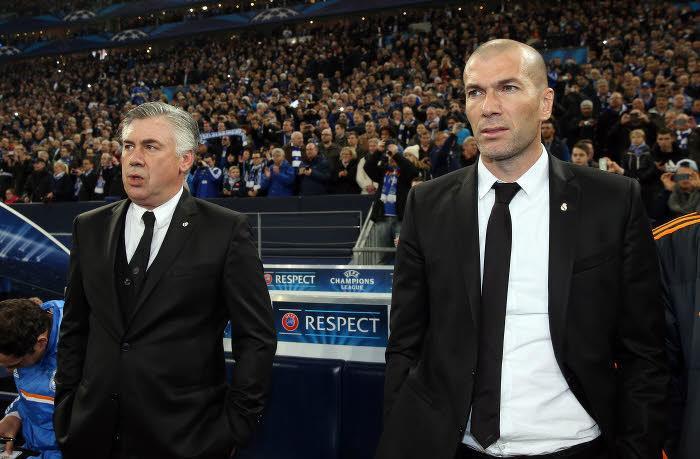 Zinedine Zidane et Carlo Ancelotti, Real Madrid
