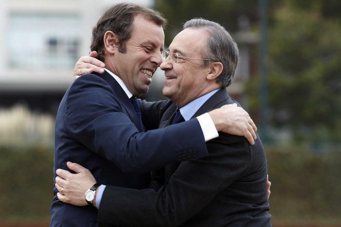 Sandro Rosell et Florentino Pérez
