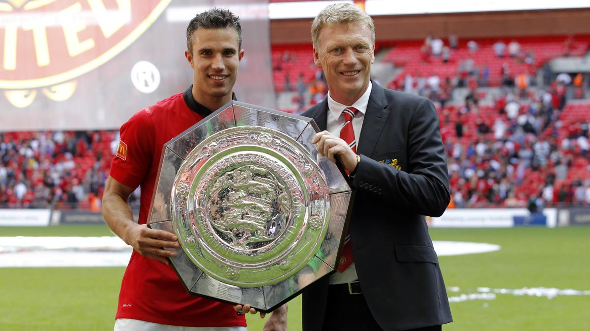 Robin Van Persie & David Moyes, Manchester United