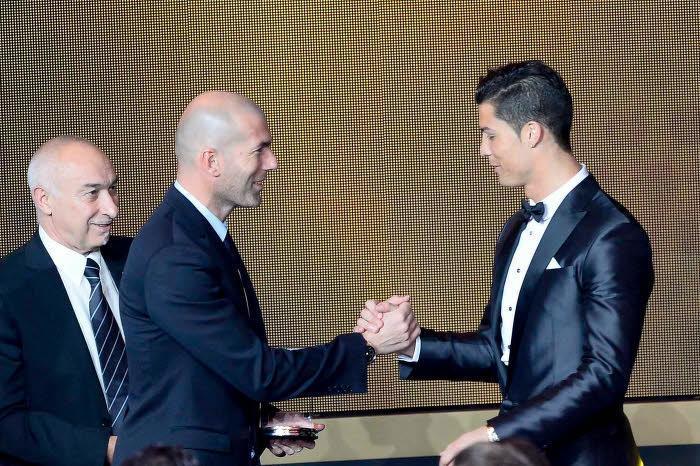 Zinédine Zidane et Cristiano Ronaldo, Real Madrid