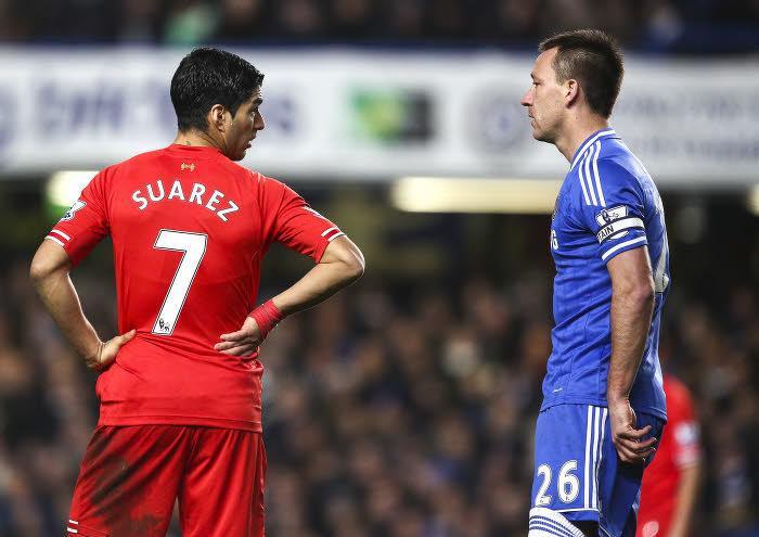Luis Suarez et John Terry, Liverpool-Chelsea