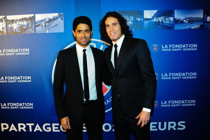 Nasser Al-Khelaïfi, Edinson Cavani, PSG