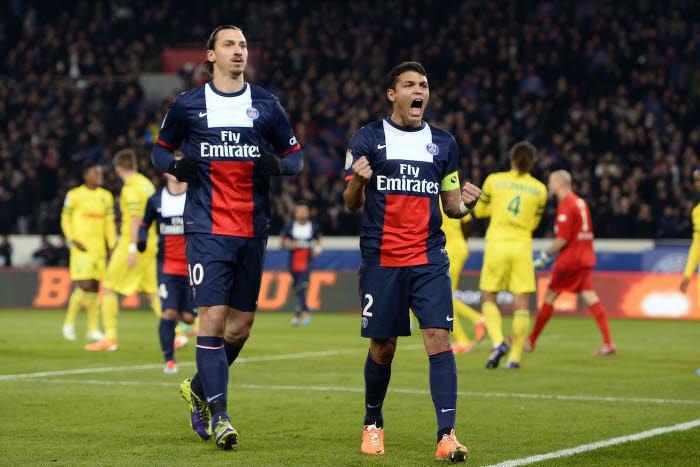 Zlatan Ibrahimovic, Thiago SIlva, PSG