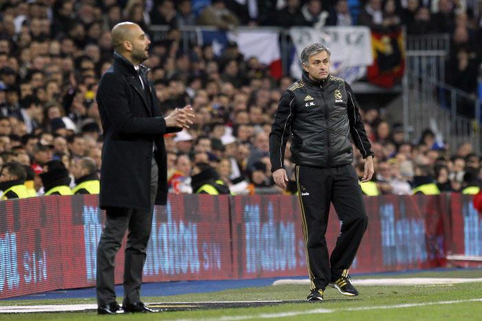 Pep Guardiola et José Mourinho