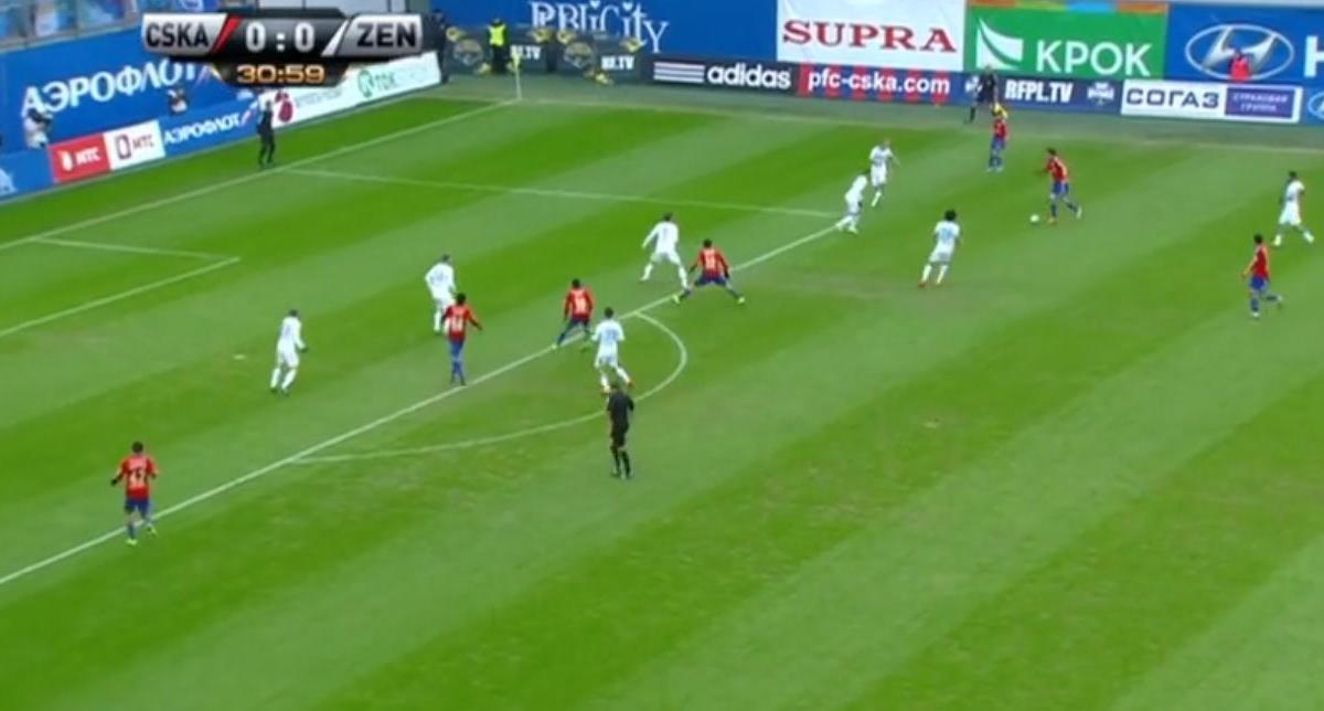 Russie : Un but splendide lors du choc entre le Zenit et le CSKA (vidéo)