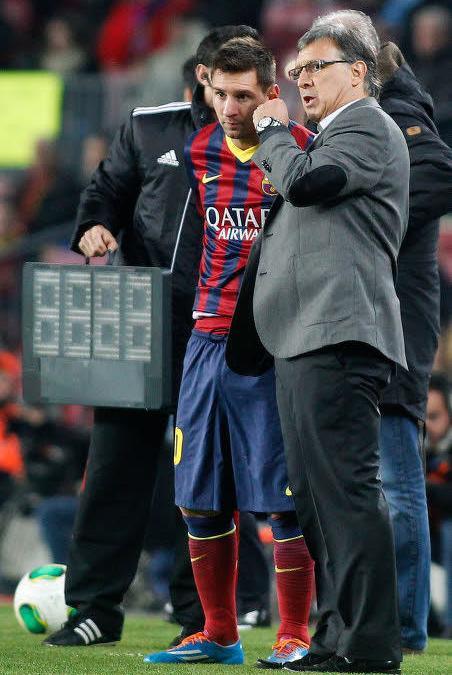 Lionel Messi, Tata Martino, FC Barcelone