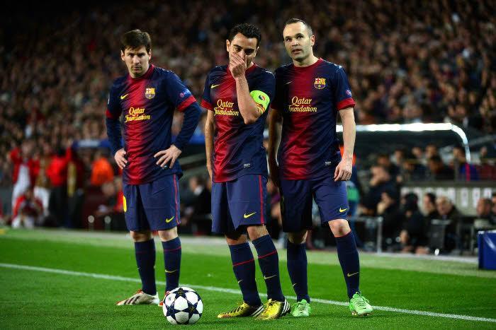 Lionel Messi, Andrés Iniesta, Xavi